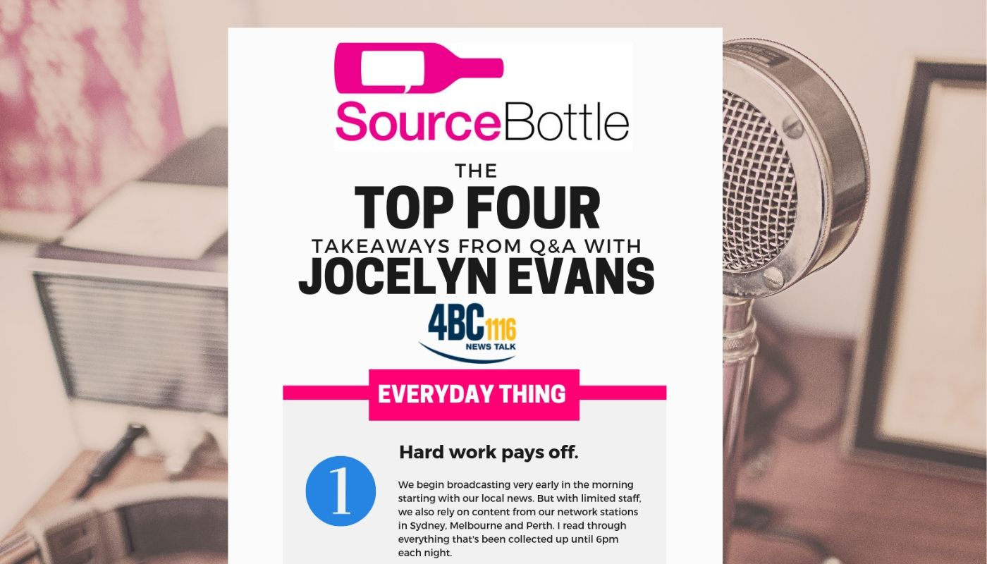 Q&A WITH 4BC'S JOCELYN EVANS: THE EARLY BIRD GETS THE WORM