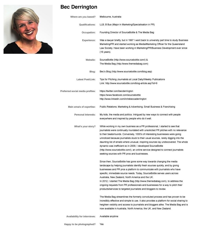 Dejtingsida Profil Exempel